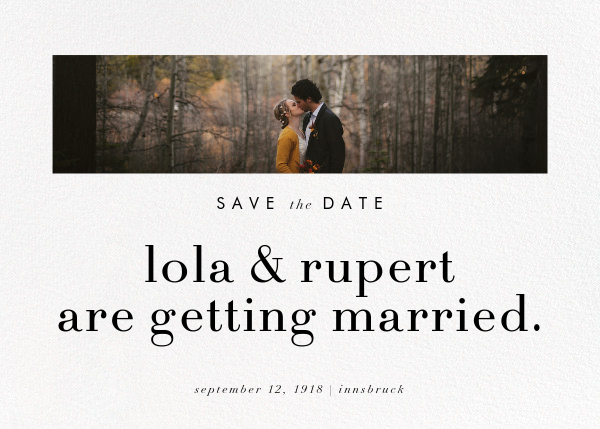 Glimpse - Paperless Post - Party save the dates