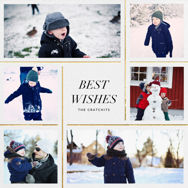 Whitework - Gold - Paperless Post - Holiday cards