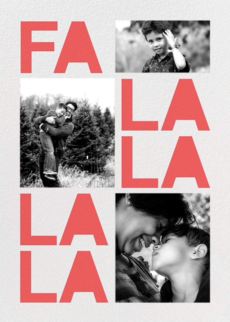 Fa Lalala La - Coral - Paperless Post - Holiday cards