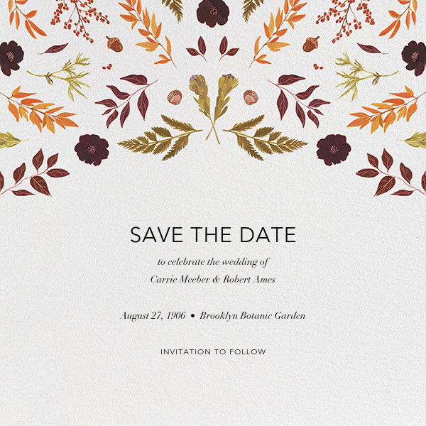 Fleurs d'Automne (Save the Date) - Paperless Post - Save the date