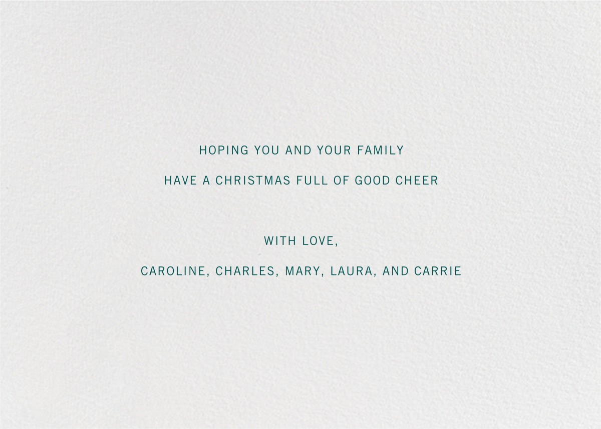 Ribbon of Christmas Joy - Paperless Post - Christmas - card back