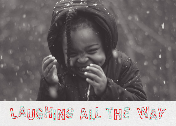 Full of Laughter (Photo) - Green - Paperless Post - Holiday cards