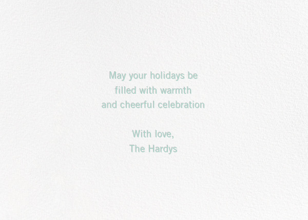 Full of Laughter (Photo) - Green - Paperless Post - Holiday cards - card back