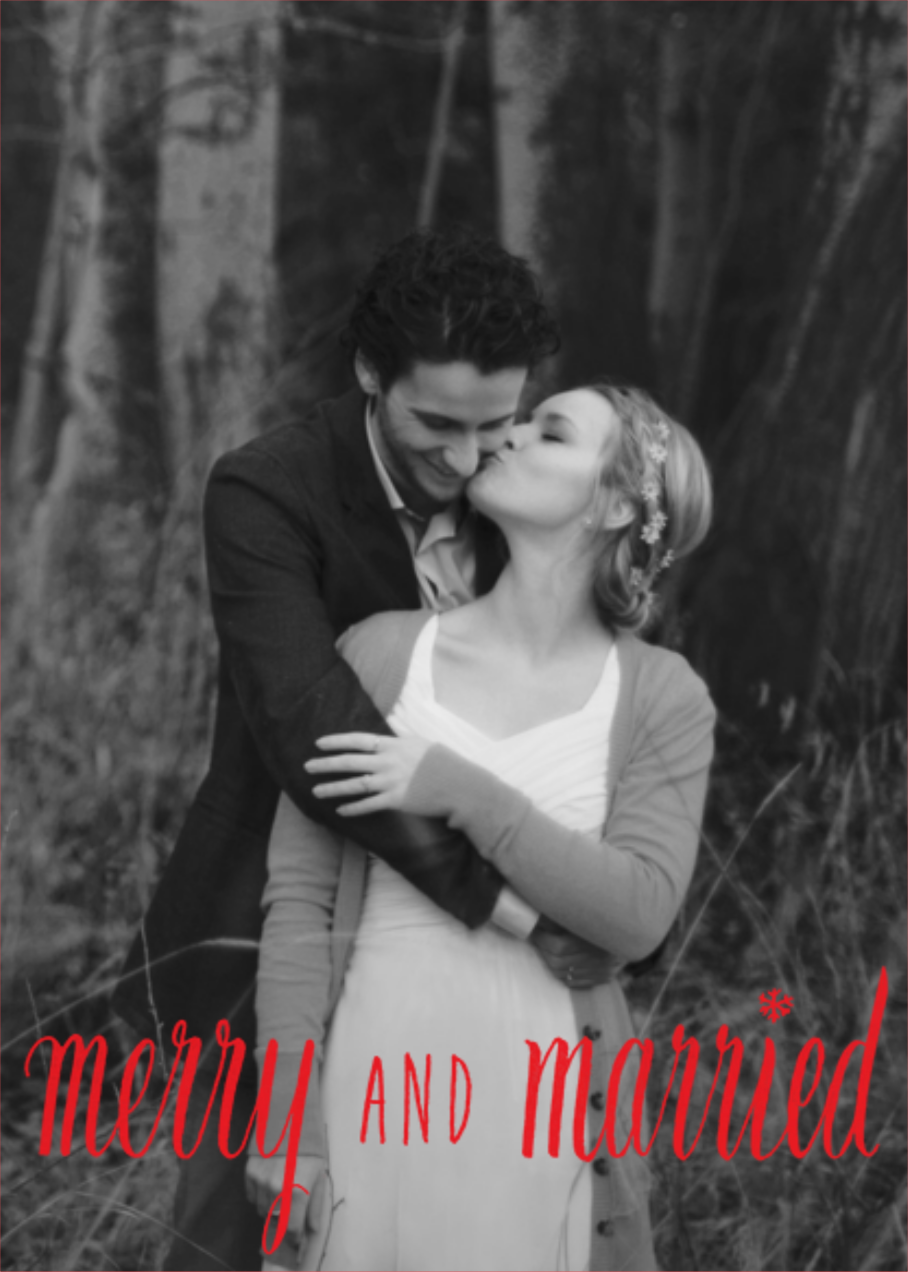 Merry and Married - Red - Paperless Post