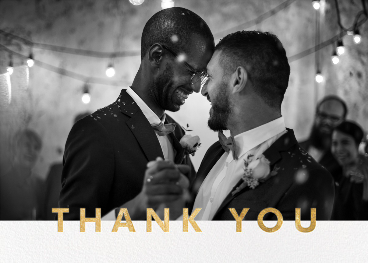 Field of Thanks Photo (Double-Sided) - Gold - Paperless Post