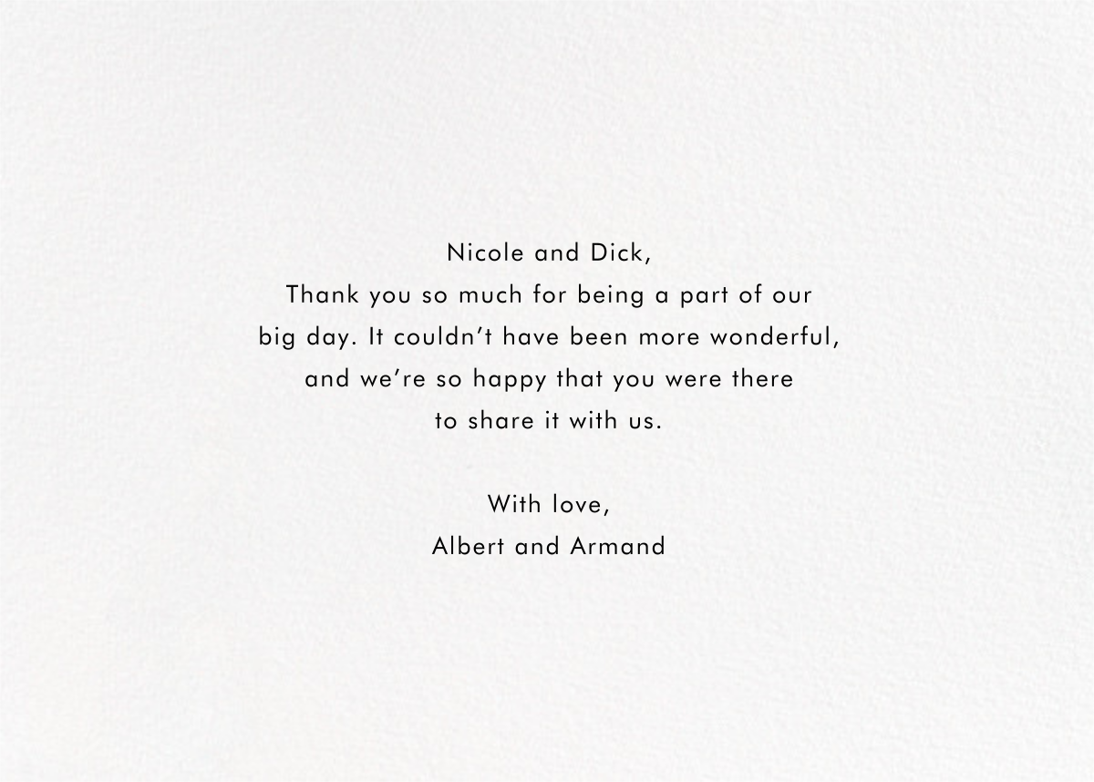 Field of Thanks Photo (Double-Sided) - Gold - Paperless Post - Back