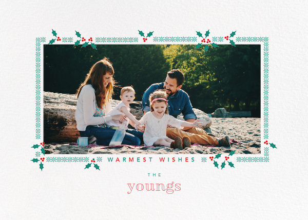 Boughs of Holly (Horizontal) - Paperless Post - Holiday cards