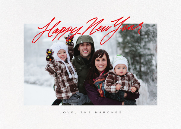 Inscribed New Year (Horizontal) - Red - Paperless Post - New Year