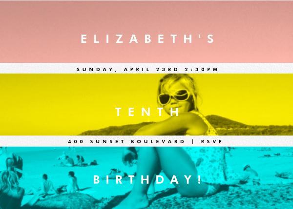 Three Photo Stripes - Paperless Post - Kids' birthday