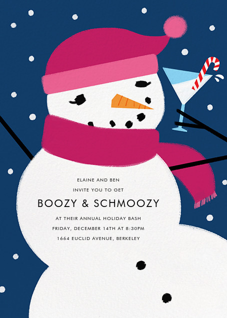 Sorority Snow Woman - Paperless Post - Winter entertaining