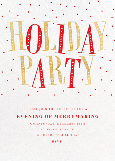 Jaunty Party - White - Paperless Post - Christmas party