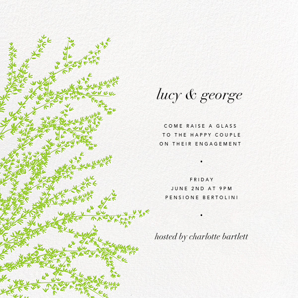 Forsythia (Green) - Paperless Post - Engagement party