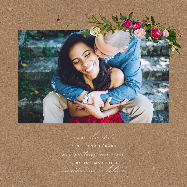 Belvoir (Photo Save the Date) - Chipboard - Paperless Post - Photo