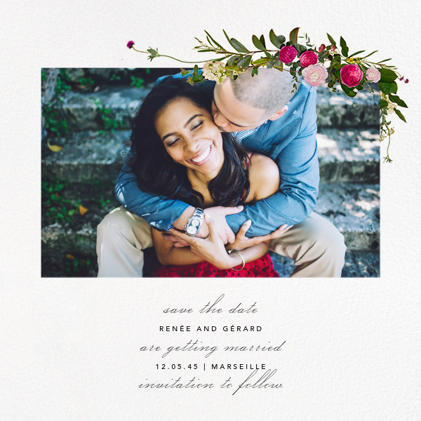 Belvoir (Photo Save the Date) - White - Paperless Post - Photo