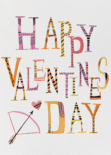 Valentine Arrow (Carrie Gifford) - Red Cap Cards - Valentine's Day