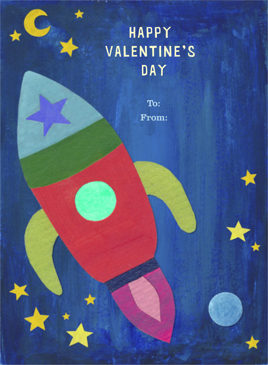Outer Space - Paperless Post - Classroom valentines