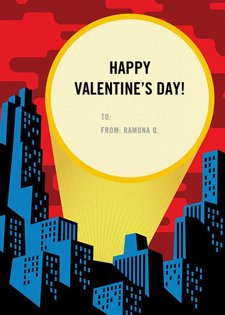 Spotlight Over Gotham (Greeting) - Paperless Post - Classroom valentines