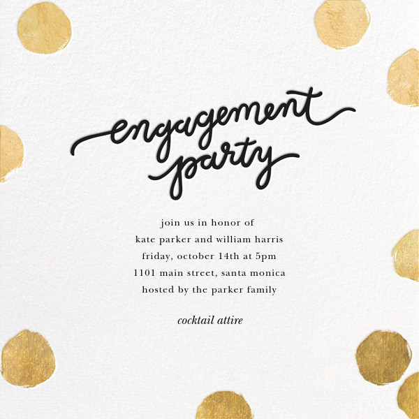 Big Dot Engagement - Gold - Sugar Paper - Engagement party