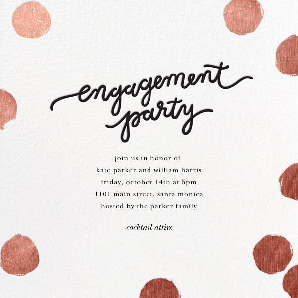 Big Dot Engagement - Rose Gold - Sugar Paper - Engagement party