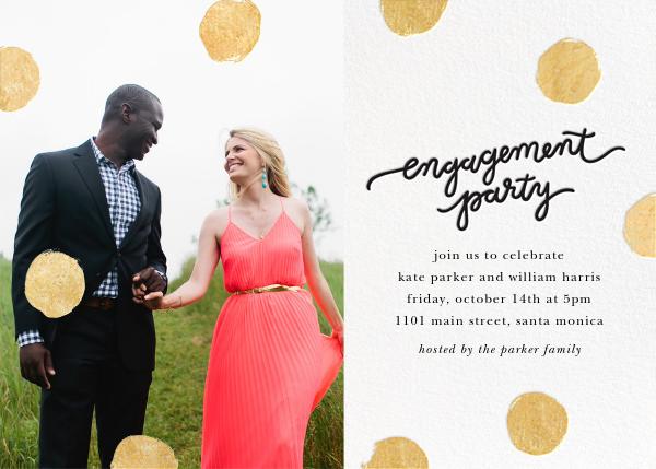 Big Dot Engagement (Photo) - Gold - Sugar Paper - Engagement party