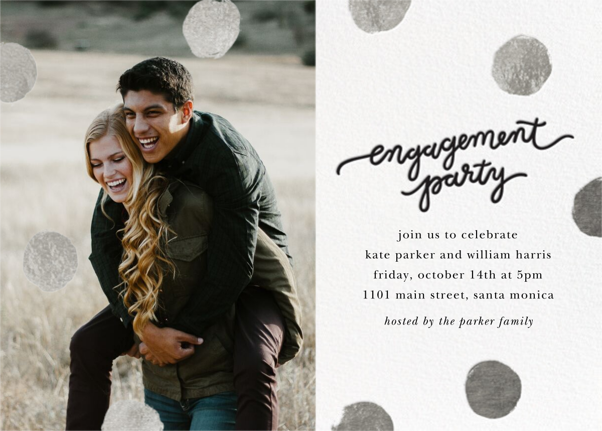 Big Dot Engagement (Photo) - Silver - Sugar Paper