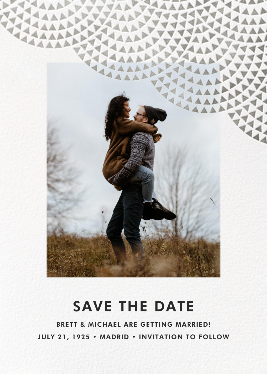 Savoy (Photo Save the Date) - Silver - Paperless Post - Photo