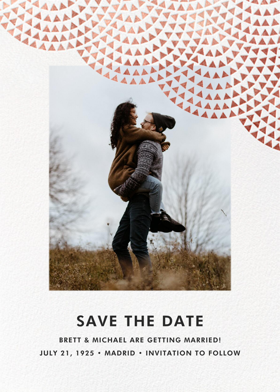 Savoy (Photo Save the Date) - Rose Gold - Paperless Post - Photo