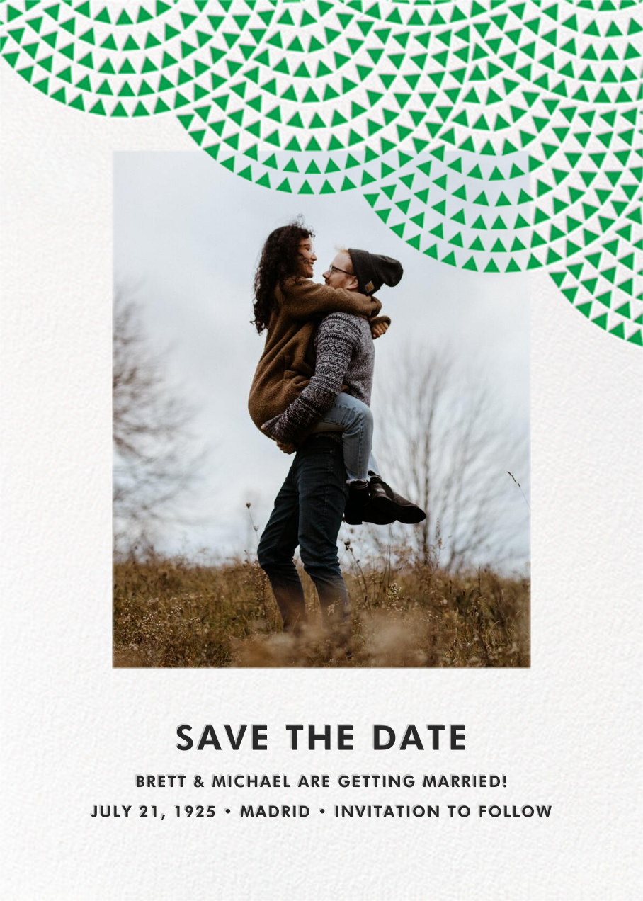 Savoy (Photo Save the Date) - Emerald - Paperless Post - Photo