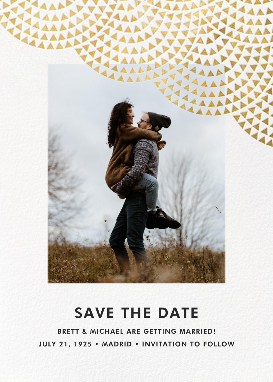 Savoy (Photo Save the Date) - Gold - Paperless Post
