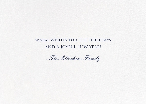 Peace on Earth Script (Photo) - White - Bernard Maisner - Holiday cards - card back