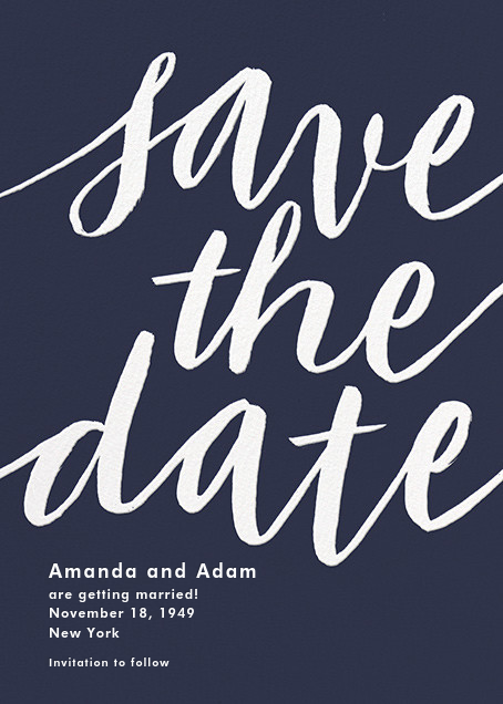 Evelina - Navy - Paperless Post - Party save the dates