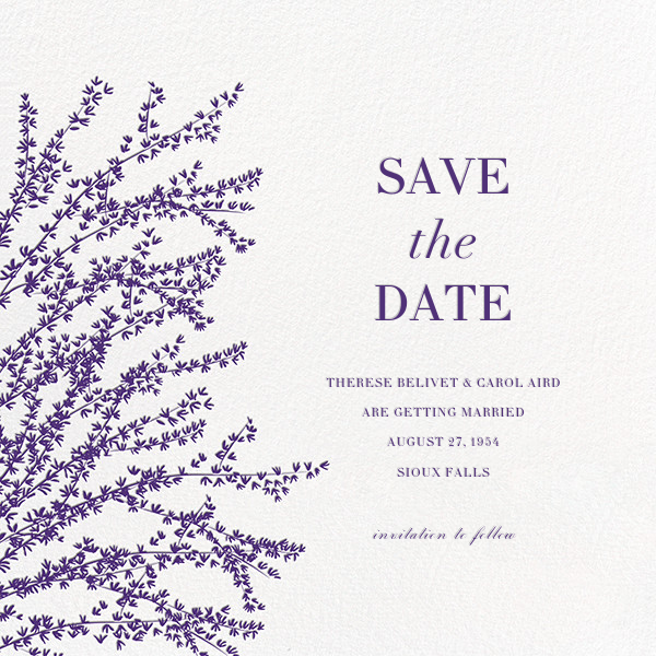 Forsythia (Save the Date) - Mulberry - Paperless Post - Save the date