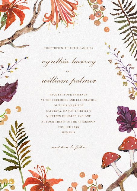 Autumn Harvest (Invitation) - Happy Menocal - All