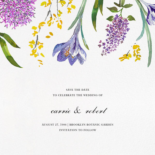 Spring Florets (Save the Date) - Happy Menocal - Save the date