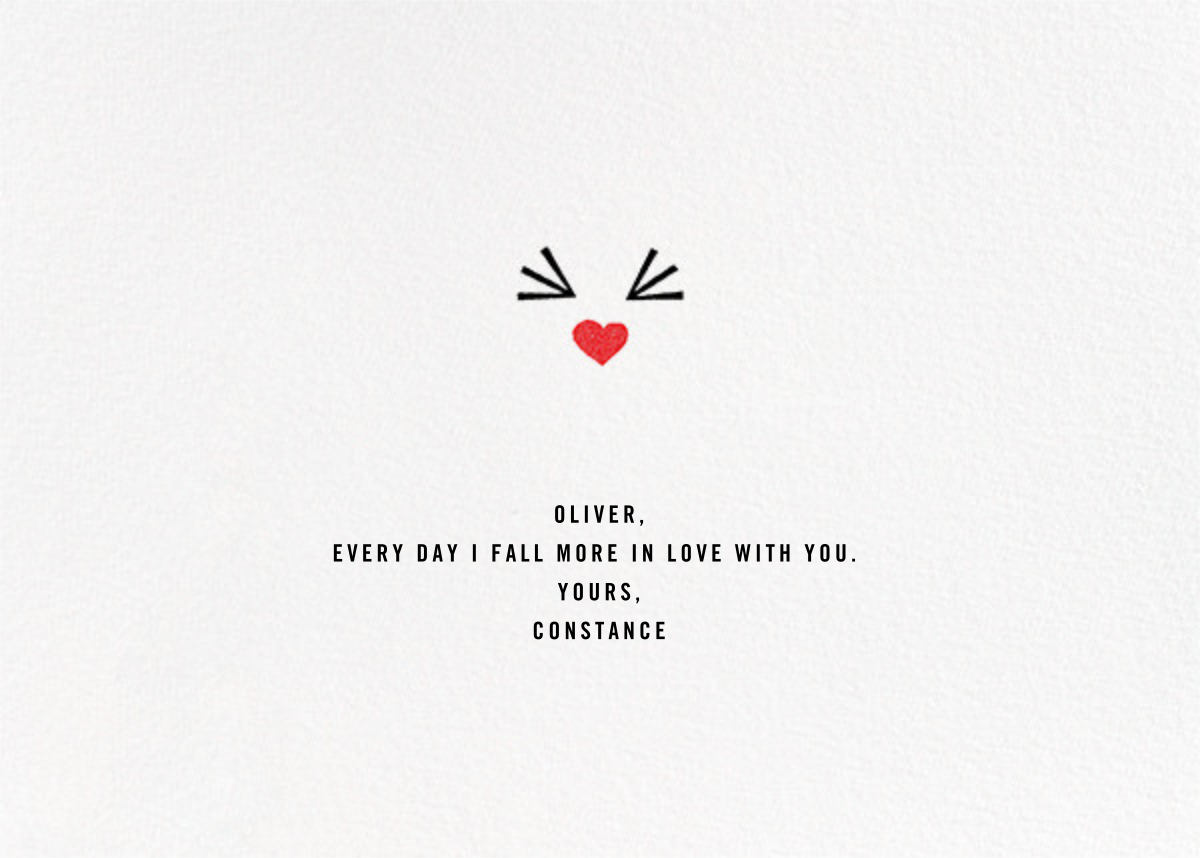 The Look of Love - Paperless Post - Valentine's Day - card back