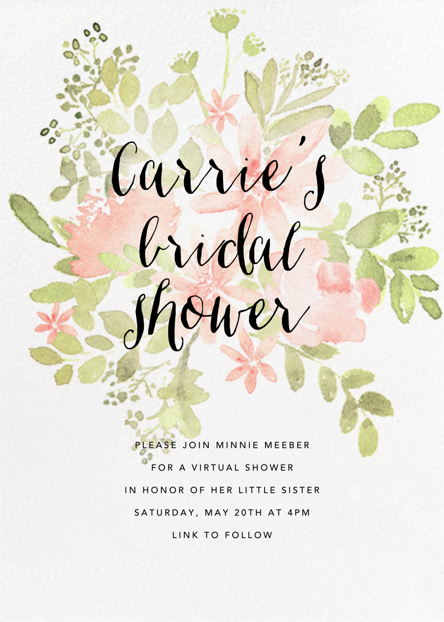 Pressed Blossoms - Pink - Paperless Post - Bridal shower