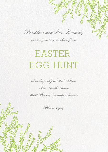 Forsythia (Invitation) - Leaf Green - Paperless Post - Easter
