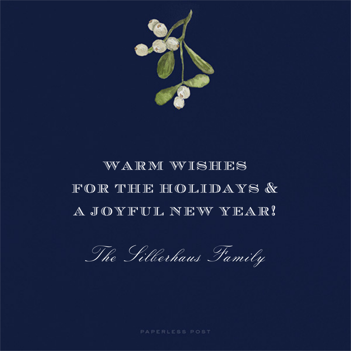 Holiday Foliage Border - Square - Paperless Post - Holiday cards - card back