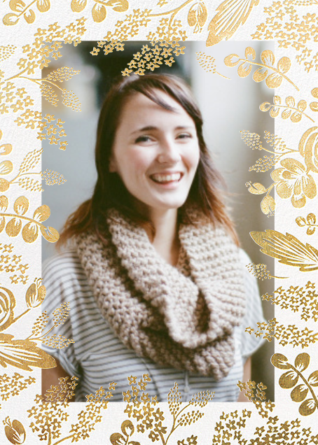 Heather and Lace (Tall Frame) - Gold/Merinuge - Rifle Paper Co. - Bridal shower