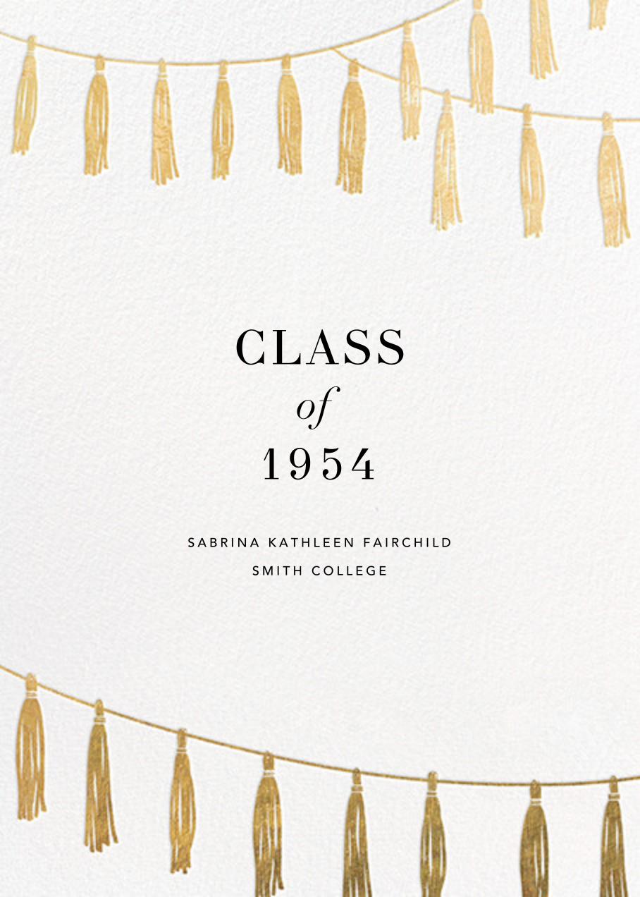 Tasseled II - Gold - Paperless Post - Graduation