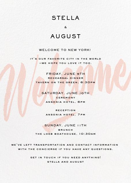 Joie de Vivre (Welcome) - Paperless Post - Welcome letters