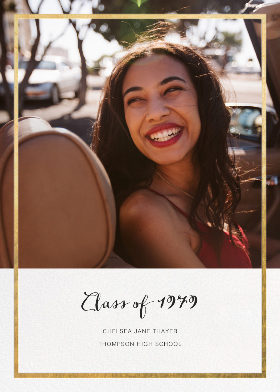Idylle (Photo) - Gold - Paperless Post - Graduation