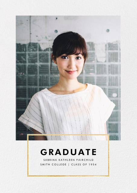Placard - Gold - Paperless Post - Graduation