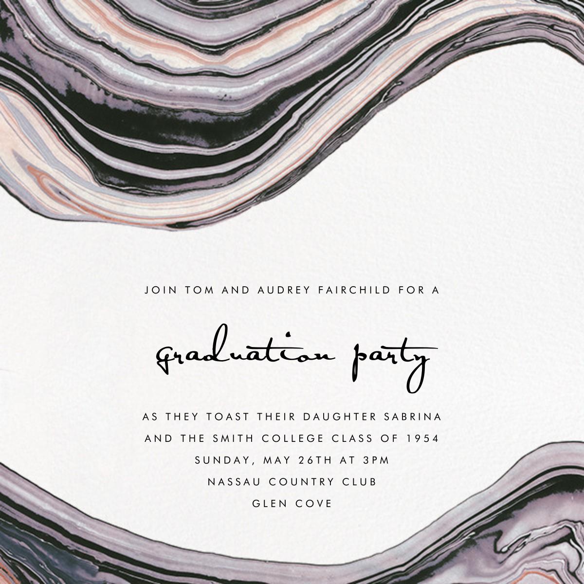 Marbleized - Kelly Wearstler - Graduation party