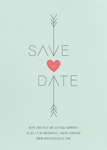 Cupid Was Here - Mint - Cheree Berry Paper & Design - Save the date