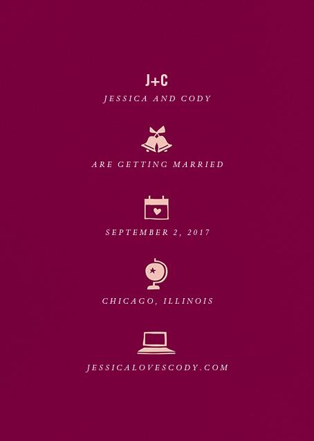 Symbols of Love - Merlot - Cheree Berry - Save the date