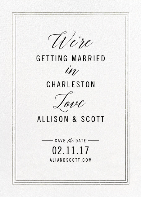 We're in Love - Silver - Cheree Berry - Save the date