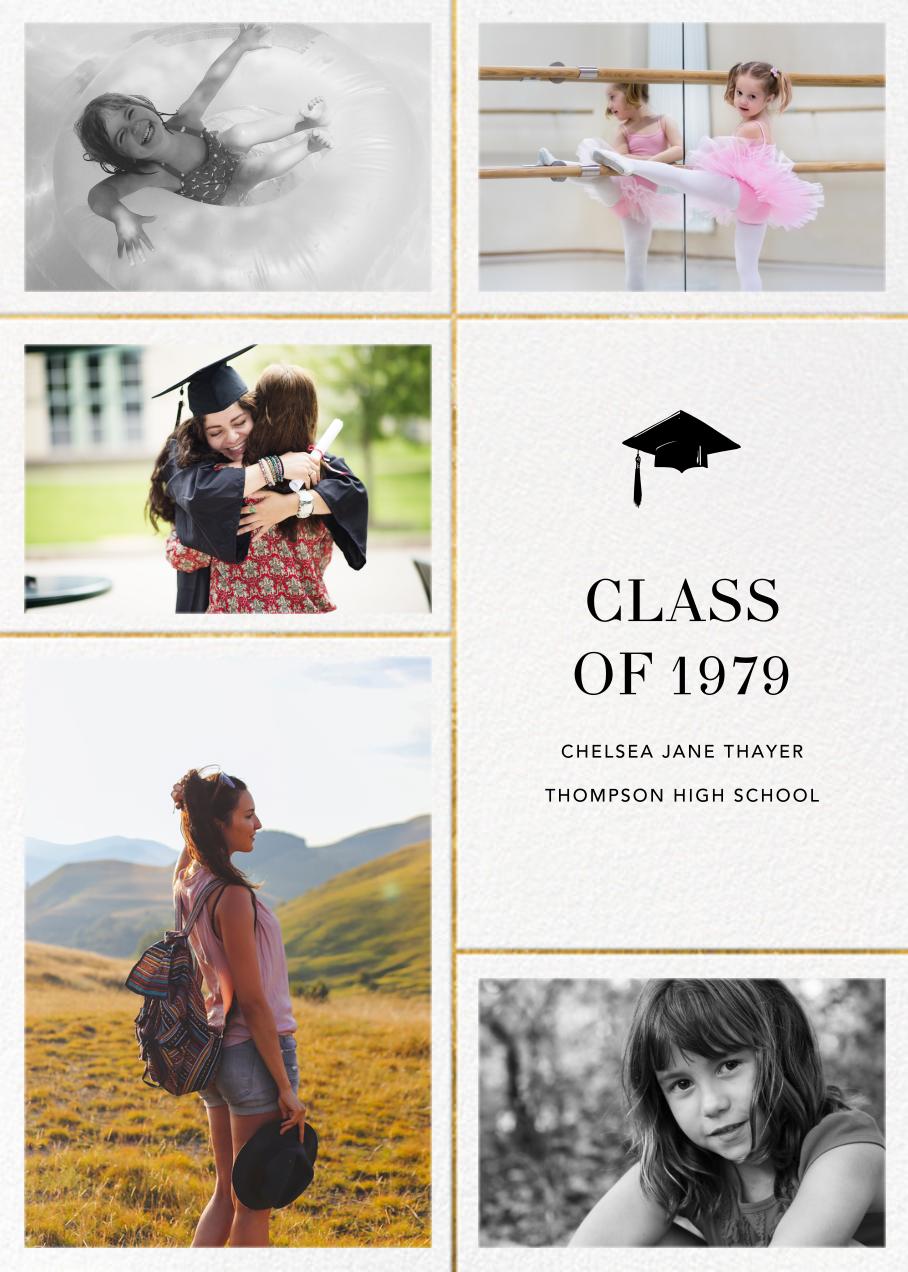 Quint - White/Gold - Paperless Post - Graduation