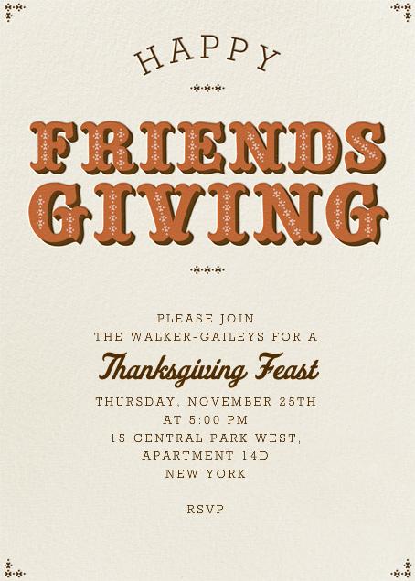 Happy Friendsgiving - Pumpkin - Paperless Post - Thanksgiving
