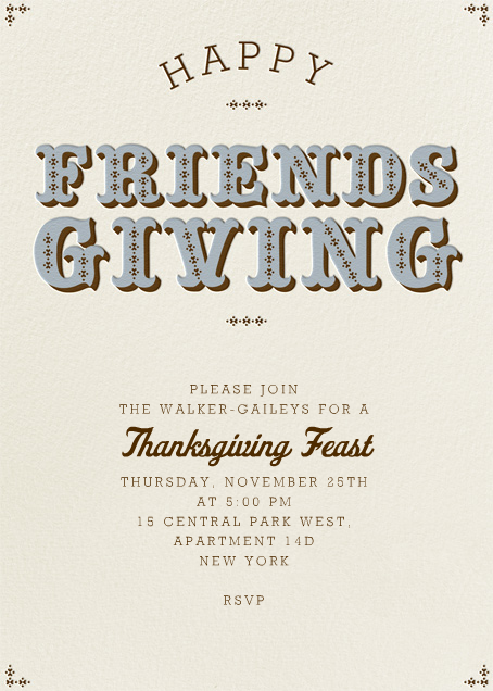 Happy Friendsgiving - Pacific - Paperless Post - Thanksgiving